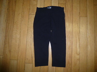 JUSTICE YOUTH GIRLS BLACK LEGGINS   SIZE 6 nice