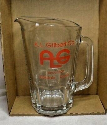 Oakdale, California - Vintage Glass Ad Pitcher - A.l. Gilbert Co