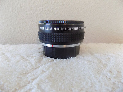 Super Albinar Auto Tele Converter 2X For Pentax-K  With Case