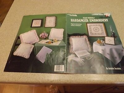 Hardanger Embroidery Beginner Instruction Leaflet Teach Yourself Leisure Arts 84