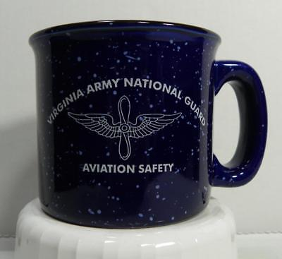 "Virginia Army National Guard Coffee Mug Aviation Safety EUC 3 1/2"" tall"
