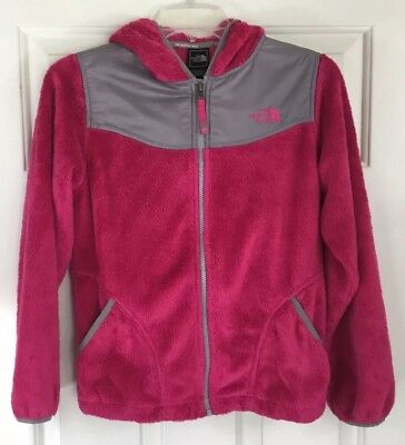 46dfc37a6 THE NORTH FACE Jacket Girls Medium Pink Gray Full Zip Hooded ...