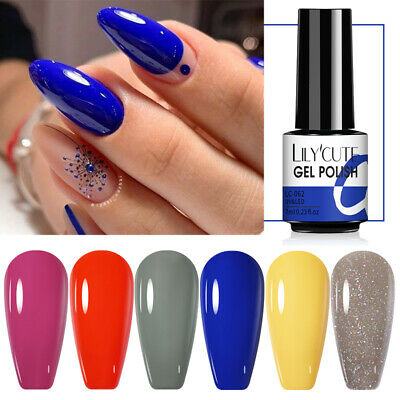 146Colors LILYCUTE Nail Art Gel Color Polish Soak Off UV/LED Gel Varnish DIY 7ml