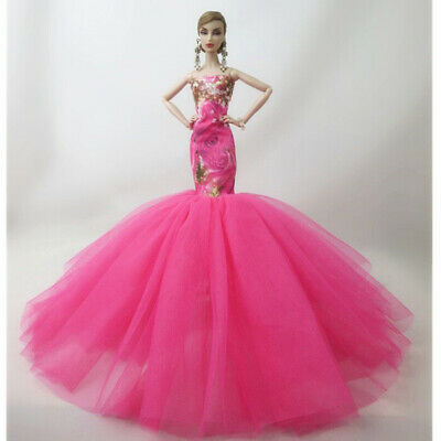 Fashion Party Princess Dress Wedding Clothes/Gown For 11.5 inch Doll #24