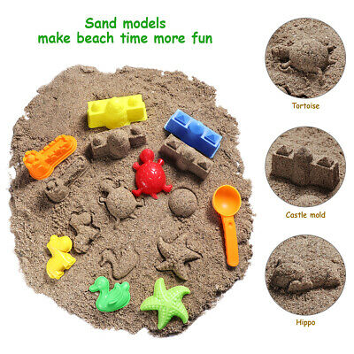 27pcs Kids Sand Molding Toys Activity Sand Art Kits Kinetic Animals Tool Mold