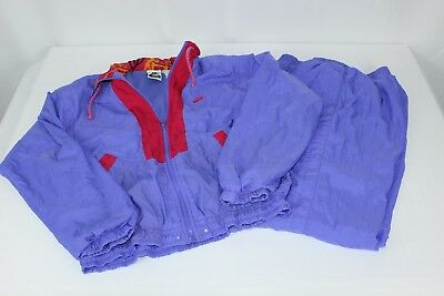 Vintage Nike Elite Women's Lavender Purple Pink Track Suit Windbreaker Set