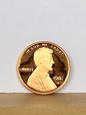 1981-S Type 2 (Clear and Flat S) Proof Lincoln Cent