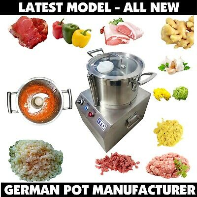 Commercial Food-Processor Fritter Machine Stainless Steel Meat Mincer - 750W 6L