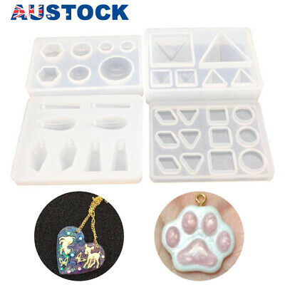 AU Silicone Pendant Mold Making Jewelry For Resin Necklace Mould Craft DIY Tools