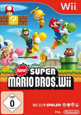 New Super Mario Bros. Wii (Nintendo Wii, 2009, DVD-Box)