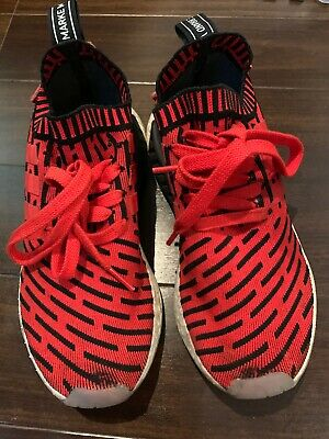 classic fit f27bf e2306 Adidas Men s Nmd R2 Primeknit Sneaker Core Red cloud White blk Bb2910 Size