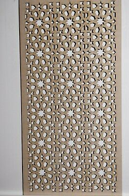 Radiator Cabinet Decorative Screening Perforated 3mm & 6mm thick MDFlasercutE55M