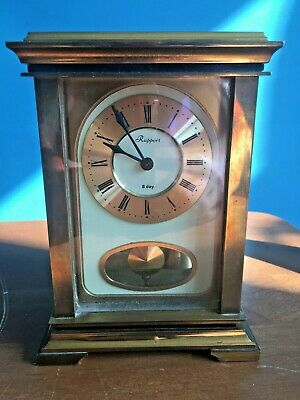 Vintage Rapport 8-Day Chiming Sss Marke Pendulum Brass Carriage Clock