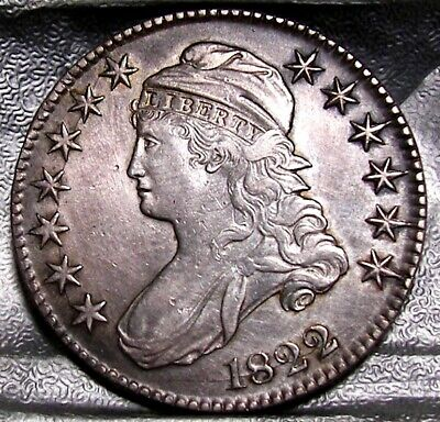 1822 Capped Bust Half Dollar   Circulated Silver