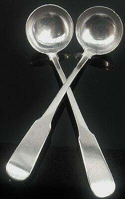 Pair Scottish Provincial Silver Toddy Ladles, William Simpson of Banff, c.1810