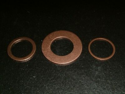 M18 Copper Washers- Choose from  3 different sizes, 10 per pack