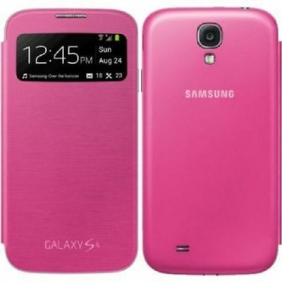 Hot Pink HIGH QUALITY FLIP CASE BATTERY BACK COVER CASE SAMSUNG GALAXY S4 i9500
