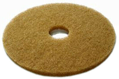 "5 x Brown 15"" Floor Cleaning Scrubbing Dry Buffing & Polishing Janitorial Pads"