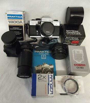 Praktica MTL50 SLR 35mm Camera + Accessories