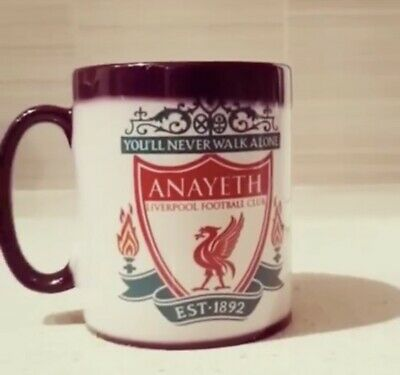 LIVERPOOL Football Personalised GIFT IDEA Mug. WOW MAGIC Mugs. COLOUR CHANGING