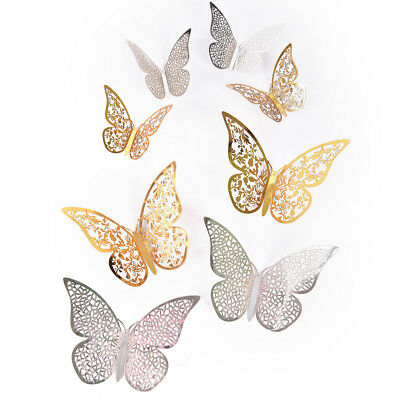 3D Hollow Butterfly Home Decor Art Wall Stickers Decal MD