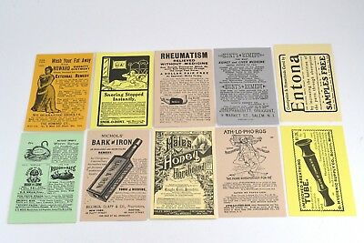 10 Quackery Medicine Patient Remedy Repro Postcard Advertisements Apothecary Q2