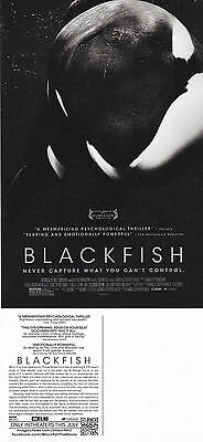BLACKFISH THE MOVIE UNUSED ADVERTISING COLOUR POSTCARD (b)