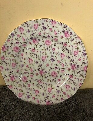 "Royal Albert Rose Confetti Vintage 8.25""( 21 cm ) Salad Plate New Without Tags"