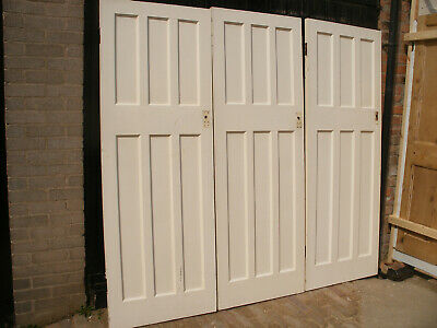 Reclaimed 1930s 6 panel pine doors. (9 available)