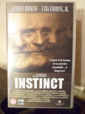 K7 - VHS - INSTINCT - Anthony Hopkins - Cuba Gooding Jr -2000 -Français -Boitier