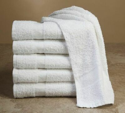 24 PACK HAND TOWEL HEAVY SALON WHITE GYM TOWELS 100% COTTON 16 x 27 GATCO BRAND
