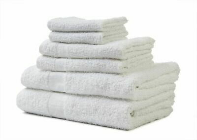 24 PACK HAND TOWEL HEAVY SALON WHITE GYM TOWELS 100% COTTON 16 x 27 STAR BRAND