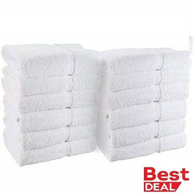 60 PACK HAND TOWEL HEAVY SALON WHITE GYM TOWELS 100% COTTON 16 x 27 GATCO BRAND