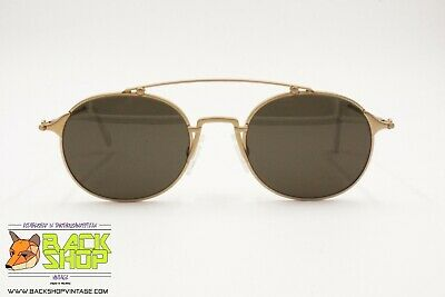 ETIENNE AIGNER sunglasses hi tech design golden satin, Vintage 80s NOS