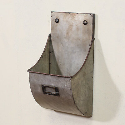 Vintage Industrial Wall Mounted Letter Storage Rack Holder Pigeon Hole Office