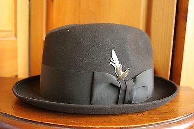 Vintage Royal Stetson Dark Brown Trilby Fedora Size 7 Made in Canada Hat