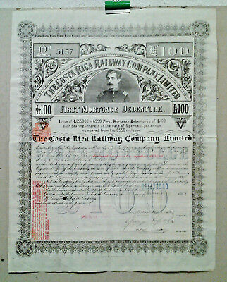 Action The Costa Rica Railway Compagy Limited 1888