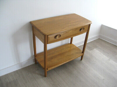 SOLID WOOD ERCOL WINDSOR CONSOLE SIDE TABLE WITH DRAWER retro heals