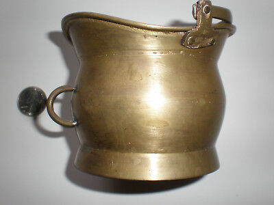 Vintage Brass Pot Pitcher Kettle Top and Side Handles Antique Miniature India