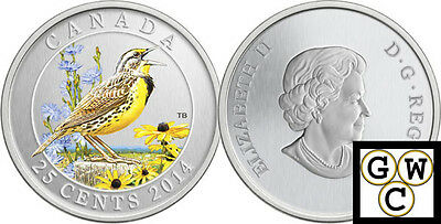 2014 /'Harlequin Duck/' Colorized 25-Cent Coin Oversized 14052