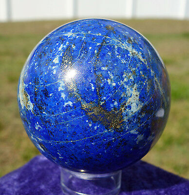 LAPIS Lazuli Crystal Sphere Premium Ball Sphere Rare Old Time New Old Stock