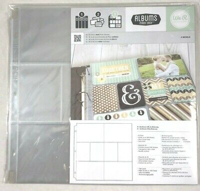 We R Memory Albums Made Easy 12x12 POCKET PHOTO SLEEVES  MULTI-PACK 10ct 50103-9