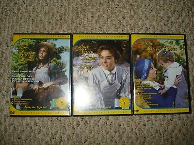 3 DVDs Anne of Green Gables Trilogy, The Sequel, Continuing Story Megan Follows