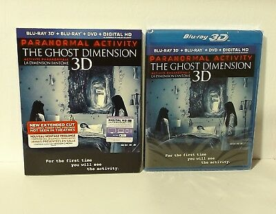 Paranormal Activity: The Ghost Dimension (3D, Blu-ray/DVD, 3-Disc Set, Canadian)
