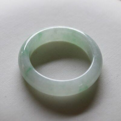 Size 9 1/2 CERTIFIED Natural Type A Untreated Light Green Jadeite JADE Ring #174