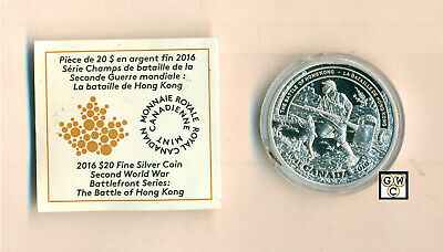 2016Battle of Hong Kong-Battlefront Prf $20Gold-Plated Fine Silver1oz(17870)OOAK