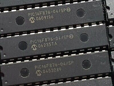 16x 28pin DIL PIC16F876/04SP 8K Flash, Used, erased.