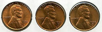 1953 Lincoln Wheat Cent Penny Set - PDS Mint lot Collection - pennies AK330