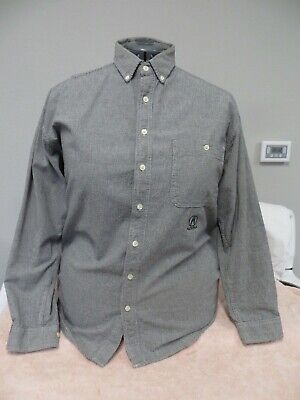 Vintage Mid 1990s ACURA Long Sleeve Navy Blue Checked Shirt - Size Large