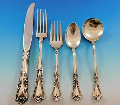 Victoria by Watson Wallace Sterling Silver Flatware Set for 6 Service 30 pieces
